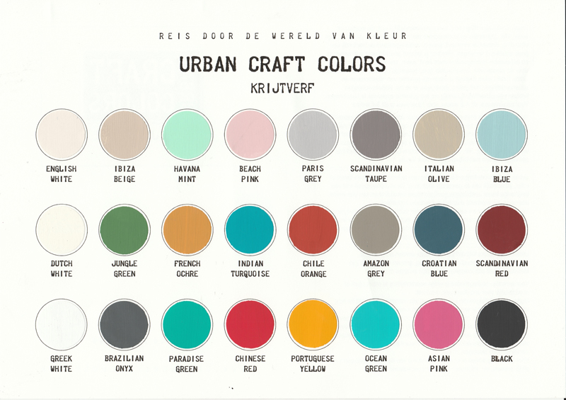 Urban-Craft-Colors-Kleurkaart-2018-web