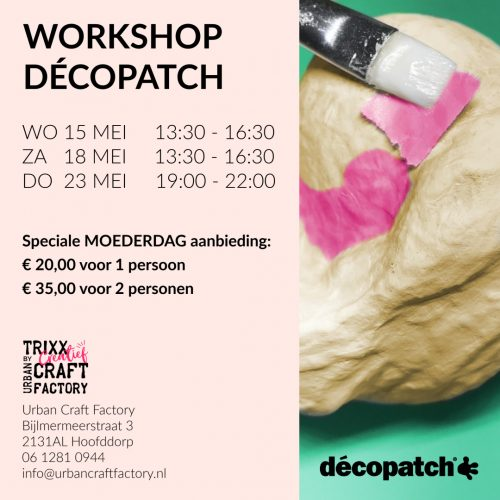 Moederdag workshop Decopatch 2 2019