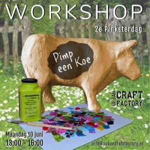 Workshop Koe Pimpen 01 Decopatch Pinksteren